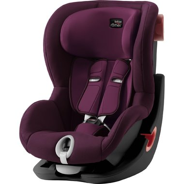 Autosedačka Britax-Römer KING II Black - Burgundy Red 2020
