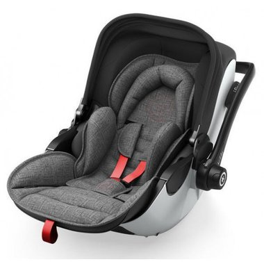 Autosedačka Kiddy Evoluna i-Size + Isofix Base 2 - Grey Melange Hot Red 2018