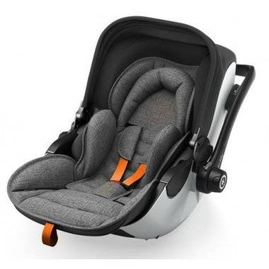 Autosedačka Kiddy Evoluna i-Size + Isofix Base 2 - Grey Melange Safe Orange 2018