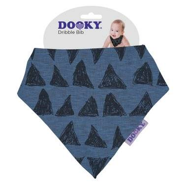 Podbradník DOOKY Dribble Bib - Blue Tribal