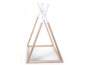 Rám postele Childhome Teepee stan 70 x 140 cm - Natural/White