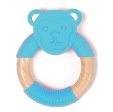 Hryzátko Bo Jungle B-Teether Animal Wood - Blue Monkey