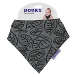 Podbradník DOOKY Dribble Bib - Grey Leaves