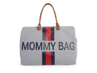 Prebaľovacia taška Childhome Mommy Bag Big - Grey Stripes Red/Blue