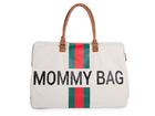 Prebaľovacia taška Childhome Mommy Bag Big - Off White/Green Red