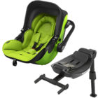 Autosedačka Kiddy Evoluna i-Size + Isofix Base 2 - Lime Green 2017
