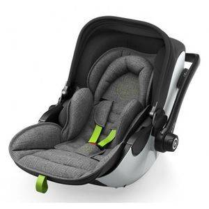Autosedačka Kiddy Evoluna i-Size + Isofix Base 2 - Grey Melange Super Green 2018
