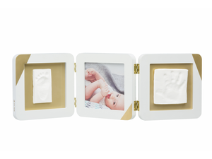 Rámik Baby Art Gold Dipped Frame Double - White