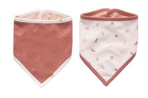 Podbradník Luma Babycare Bandana 2ks - Sunset Shapes