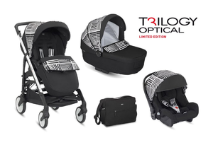 Kombinovaný kočík Inglesina Trilogy Optical - Black